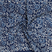 Blue and White Indigo Cotton Block Print Fabric-14471
