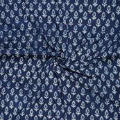 Blue and White Indigo Cotton Block Print Fabric-14474