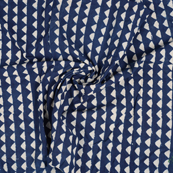 Blue and White Indigo Cotton Block Print Fabric-14480