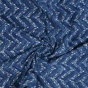 Blue and White Indigo Cotton Block Print Fabric-14488