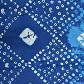 Blue and White Shibori Pattern Indian Cotton Fabric by the Yard
