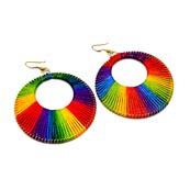 Brass Multicolor silk Handcrafted Drop Earring for Women