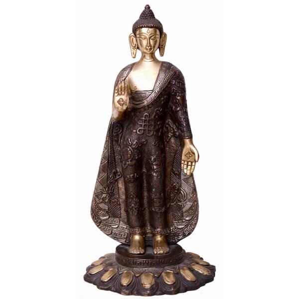Bronze standing buddha Sclupture