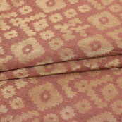 Brown Golden ZIg Zag Jacquard Brocade Silk Fabric-9186