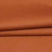 Brown Plain Cotton Silk Fabric-16461