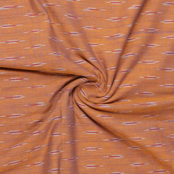 Brown White Ikat Cotton Fabric-11035