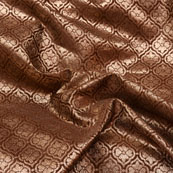 Brown and Golden Floral Pattern Brocade Silk Fabric-5407