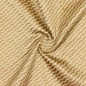 Cream Golden Leharia Jacquard Brocade Silk Fabric-9176