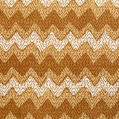 Cream-Orange and White Indian Block Print Cotton Fabric-RL4316