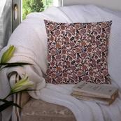 Cream and Black Cotton Cushion Cover-35022