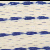 Cream and Blue small and big Linning Pattern Ikat Fabric-4226