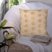 Cream and Golden Silk Cushion Cover-35052