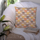 Cream and Yellow Cotton Cushion Cover-35036