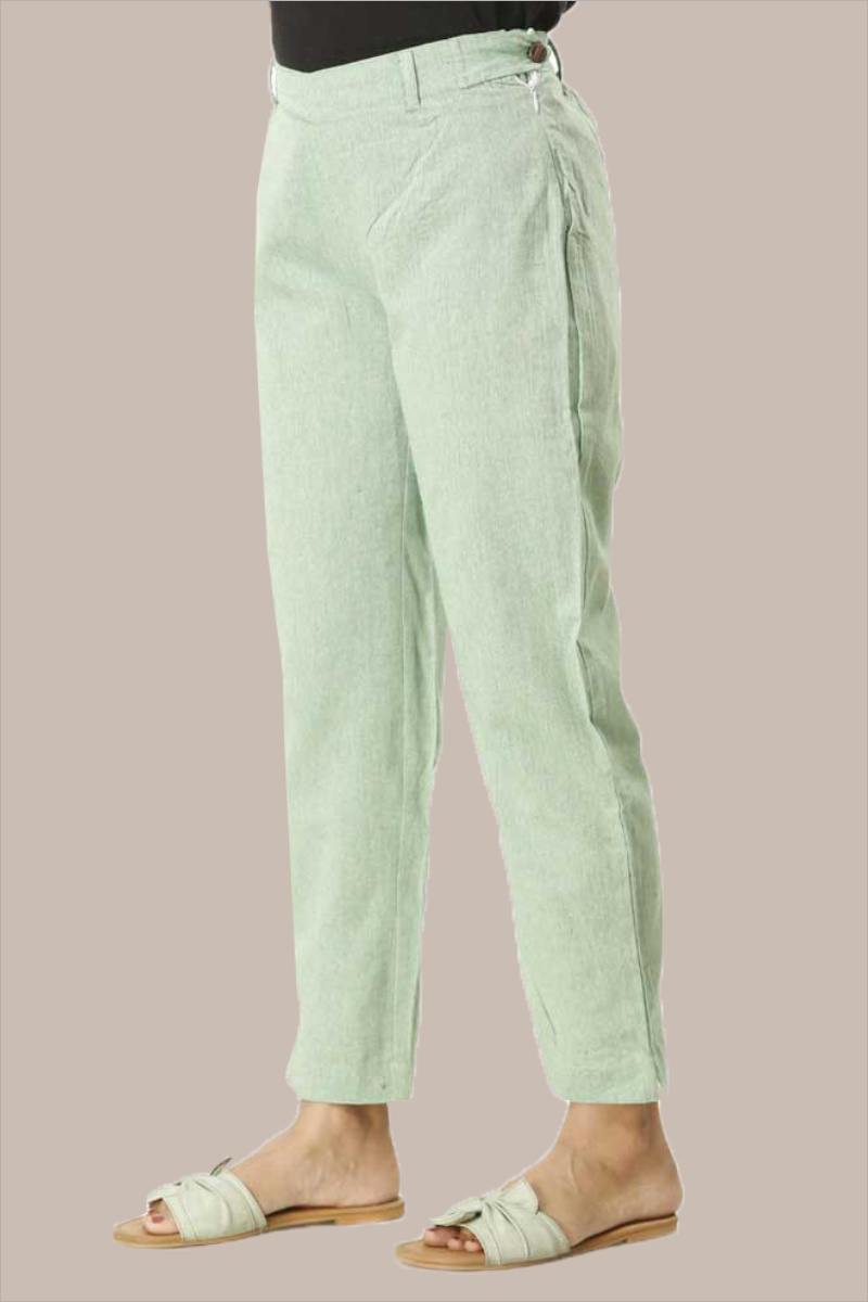Cyan Cotton Samray Ankle Length Pant-33710