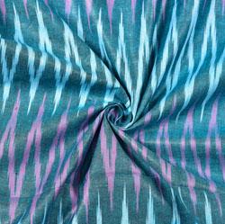 Cyan Pink Ikat Cotton Fabric-11122