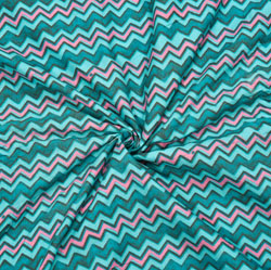 Cyan Pink Leheriya Cotton Fabric-28085