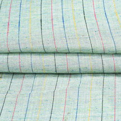 Cyan Pink and Blue Stripe Cotton Fabric-42402