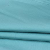 Cyan Plain Cotton Silk Fabric-16430