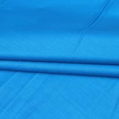 Cyan Plain Cotton Silk Fabric-16431
