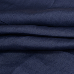 Dark Blue Plain Linen Fabric-90013