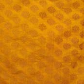 Dark Yellow and Light Brown Brocade Silk Fabric by the yard