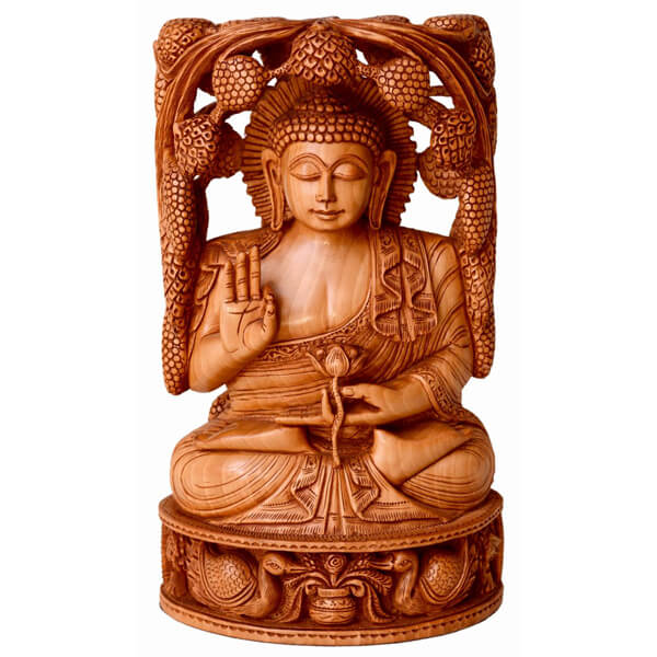 Fine miniature carving (handcarved) Buddha Statue