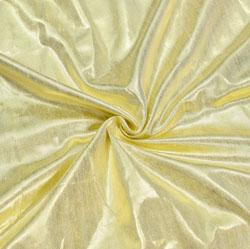 Golden Plain Brocade Silk Fabric-12371