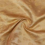 Golden Music Instrument Brocade Silk Fabric-9342