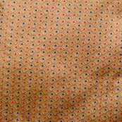 Golden and Red and Blue Dotted Design Pattern Brocade Silk Fabric by the yard