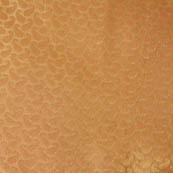 Golden large paisley shape brocade silk fabric-4690