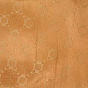 Golden polka pattern brocade silk fabric-4662