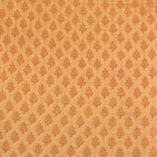 Golden small shape flower silk brocade fabric-4689