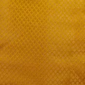 Golden traingle pattern Brocade Silk Fabric by the yard