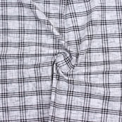 Gray Black Check Handloom Khadi Cotton Fabric-40616
