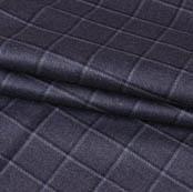 Gray Black Checks Wool Fabric-90103