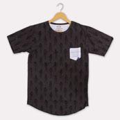 Gray Black Cotton Astronaut T-shirt-33360