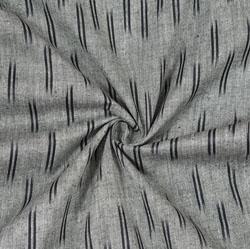 Gray Black Ikat Cotton Fabric-11097
