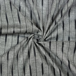 Gray Black Ikat Cotton Fabric-11108