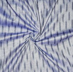 Gray Black Ikat Cotton Fabric-11170