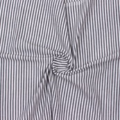Gray Black Striped Handloom Khadi Cotton Fabric-40741