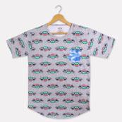 Gray Cyan Cotton Central Perk T-shirt-33370