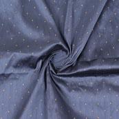 Gray Golden Polka Silk Fabric-9062