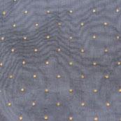 Gray Golden Polka Taffeta Silk Fabric-9090