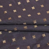 Gray Golden Star Brocade Silk Fabric-9237