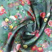 Gray Pink and White Digital Organza Silk Fabric-51531