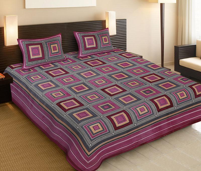 Gray Rubin Cotton Jaipuri Bedsheet-509
