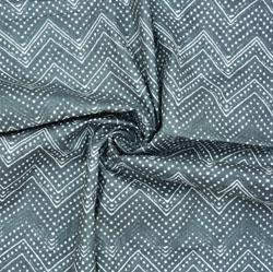 Gray White Ikat Cotton Fabric-28619