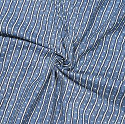 Gray White Leheriya Cotton Fabric-28093