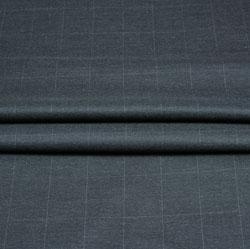 Gray White Checks Wool Fabric-90240
