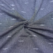Gray and White Unique Design Ikat Fabric-12031